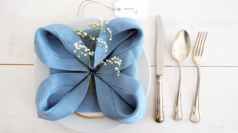 Rose Napkin Fold Adds Special Touch To Any Table Lakes